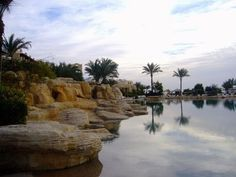 Ain Sokhna, Egypt, which means hot spring in Arabic, was named after the nearby sulfur springs.