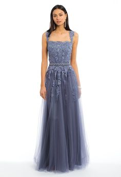Tulle Mesh Skirt With Shawl Dress from Camille La Vie