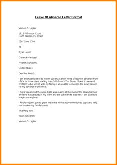 sample medical leave of absence letter from doctor