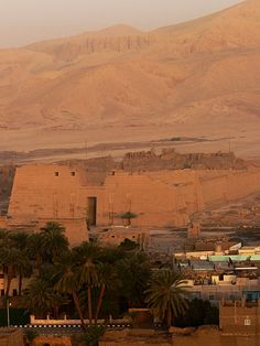 Qurna. Balloon flight over Valley of the Kings. Luxor, Egypt
