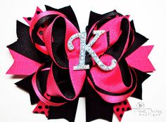 i love hair bows for baby girl. the bigger the better