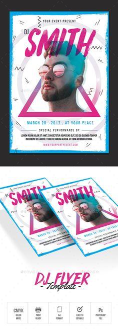 DJ Flyer — Photoshop PSD #indie flyer #shiny • Download ➝ https://graphicriver.net/item/dj-flyer/20516341?ref=pxcr
