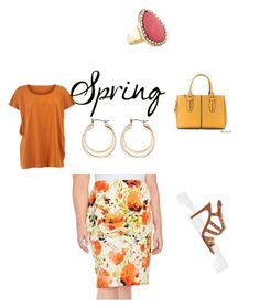 """""""Fun in Floral#springdatenight"""" by krismonet on Polyvore featuring Nipon Boutique, Avenue, Isolde Roth, Violeta by Mango and plus size clothing"""
