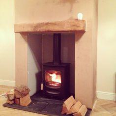 My fabulous wood burning with false chimney breast