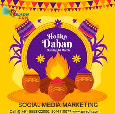 HAPPY HOLIKA DAHAN 28 March, Sunday Visit Us: www.awadh.com Call @ +91 9793322000, 9044110077 #HOLIKADAHAN #onlinemarketing #digitalmarketing #marketing #socialmediamarketing #socialmedia #business #seo Online Marketing, Social Media Marketing, Digital Marketing, Happy Holi, Rajasthan India, Color Of Life, All The Colors, Sunday, Let It Be