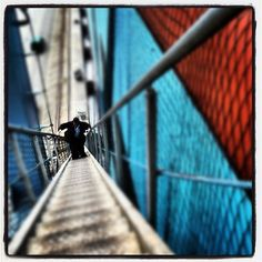 BBC's Michael Williams on his way up the gangway of Ebba Mærsk by Maersk Line, via Flickr