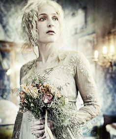 Gillian Anderson as mad, jilted, Miss Havisham ~ from Charles Dicken's masterpiece, GREAT EXPECTATIONS (2012)