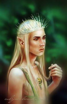 "Youthful by Cudzinec.deviantart.com on @DeviantArt - Thranduil from ""The Hobbit"""