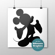 Mickey Mouse silhouette file svg eps disney by SilhouetteGraphics