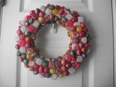 Turn colorful holiday candy into festive home decor with this faux resin candy wreath tutorial! Holiday Candy, Christmas Candy, Holiday Crafts, Christmas Crafts, Christmas Stuff, Christmas Ideas, Christmas Inspiration, Holiday Ideas, Christmas Wreaths To Make