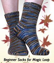 KNITFreedom: Free Pattern: Beginner Socks for Magic Loop – Knitting Socks İdeas. Knitted Socks Free Pattern, Baby Knitting Patterns, Knitting Designs, Knitting Projects, Knitting Ideas, Knitting For Kids, Knitting For Beginners, Easy Knitting, Knitting Socks