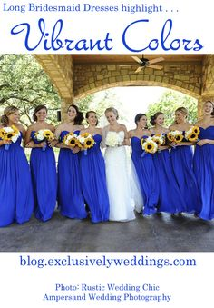 """Ten Things You Must Know About Long Bridesmaid Dresses"" .. read more: http://blog.exclusivelyweddings.com/2014/05/05/ten-things-you-must-know-about-long-bridesmaid-dresses/"