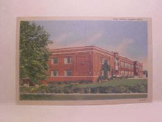High School Lapeer Michigan Post Card (Later known as White Jr. High) where I went to Jr. High (aka middle school)
