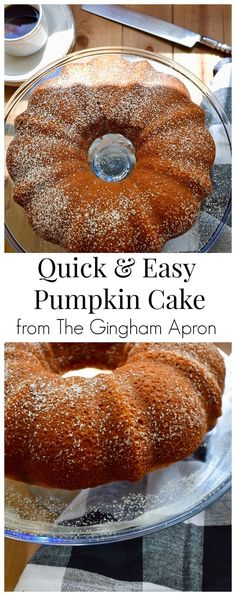 Quick and Easy Pumpkin Cake- this cake is the easiest, fastest, and most delicious pumpkin cake recipe. It starts with a yellow cake mix, which makes it so simple to make. #pumpkindesserts #autumn #fall #falldessert #yellowcakemix #cakemix