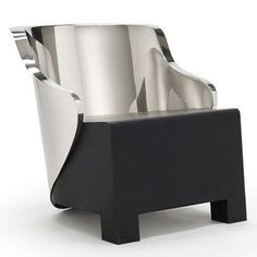 Bergere chair, low back, 2006 by Patrik Fredrikson and Ian Stallard (stainless steel, rubber)