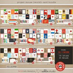 Project Mouse (World): CARD Bundle [ a collaboration ] by britt-ish…