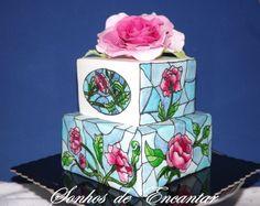 stained glass cake - by sonhosdeencantar @ CakesDecor.com - cake decorating website