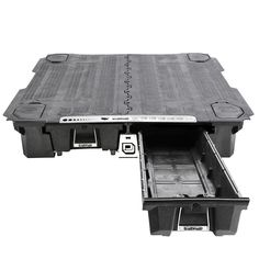 DECKED Pick-Up Truck Storage System is an innovative, weatherproof truck bed storage and organization solution. Van Storage, Deck Storage, Storage Ideas, Storage Boxes, Secure Storage, Storage Drawers, Storage Organization, Toyota Tacoma, Gmc Trucks