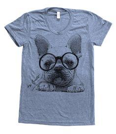 Hey, I found this really awesome Etsy listing at http://www.etsy.com/listing/158338400/french-bulldog-shirt-women-custom-hand