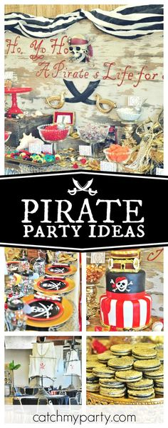Check out this awesome Pirates of the Caribbean birthday party. The decor is fantastic!! See more party ideas and share yours at CatchMyParty.com
