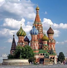 Basil's Cathedral on Red Square is Moscow's most famous tourist attraction.
