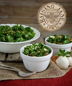 Kale Salad W/Marinated Mushrooms & Sun Dried Tomatoes Prep Time: 25 Minutes, Plus 2 ½ Hours Marinating  Makes: 6 Servings (About 8 Cups)