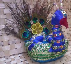 peacock basket for laddu gopal
