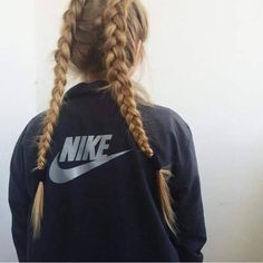 nike and french braids
