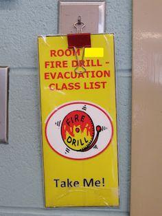 Teaching My Friends!: Fire Drills Good Idea - Adapt for Middle School
