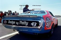 BROOKLYN, MI - JUNE 19: Richard Petty's STP Dodge sits in the pit lane