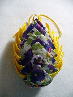 Easter egg made with fabric by my mom