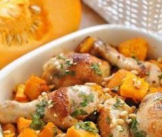 chicken n pumpkin No Cook Meals, Kids Meals, Good Food, Yummy Food, Weekday Meals, Cooking Recipes, Healthy Recipes, Greek Recipes, Food Dishes
