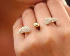 Fashoin Costume Fashion Double Fingers Ring - Yaling Jewelry