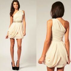 $29.99 sexy Chiffon manual bead One-shoulder dress