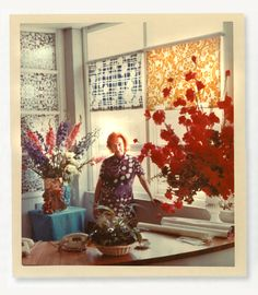 #yearofpattern florence broadhurst at her desk in paddington
