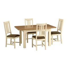 Clermont Painted 125cm-165cm Dining Table with 4 Chairs including free delivery (902.432) | Pine Solutions - WPM