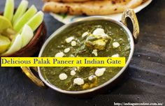India Gate, Order Book, Palak Paneer, Fine Dining, A Table, Restaurant, Indian, Food, Restaurants