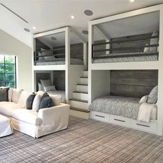Schöne 65 beautiful bunk beds design ideas The best way to make your living space . - 📣 65 Nice Bunk Beds Design Ideas The Best Way To Maximize Your Living Space 43 – 📣 65 Nice - Bunk Bed Rooms, Bunk Beds Built In, Bunk Bed Wall, 4 Bunk Beds, Queen Bunk Beds, Bunk Beds For Boys Room, Building Bunk Beds, Murphy Bunk Beds, Adult Bunk Beds
