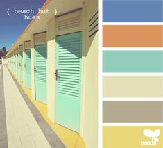 color palette. beach colors... maybe kitchen maybe 2nd bath?