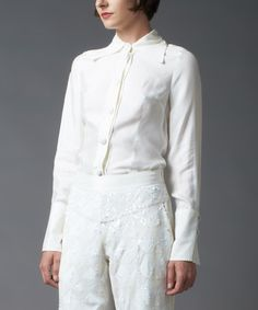 Look what I found on #zulily! White Button-Up by Nuvula #zulilyfinds