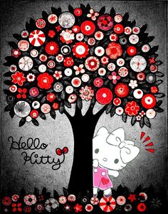 Image in Hello Kitty collection by May May on We Heart It Hello Kitty Drawing, Hello Kitty Art, Hello Kitty Themes, Hello Kitty Birthday, Sanrio Wallpaper, Hello Kitty Wallpaper, Iphone Wallpaper, Glitter Wallpaper, Hello Kitty Imagenes