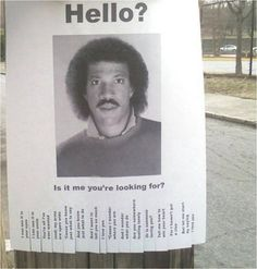 Listen to music from Lionel Richie like All Night Long (All Night) - Single Version, Hello & more. Find the latest tracks, albums, and images from Lionel Richie. I Smile, Make Me Smile, I Love To Laugh, Just For Laughs, Haha Funny, Funny Stuff, Funny Ads, Funny Humor, Nerd Humor