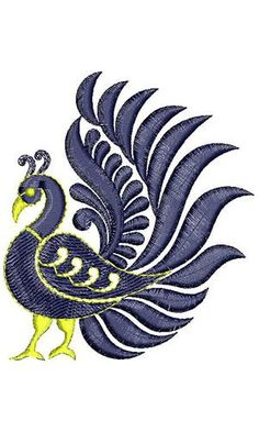 Discover thousands of images about Applique Embroidery Design 19471 Peacock Embroidery Designs, Hand Embroidery Design Patterns, Embroidery Suits Design, Embroidery Motifs, Paper Embroidery, Machine Embroidery Designs, Beautiful Rangoli Designs, Embroidery Techniques, Fabric Painting