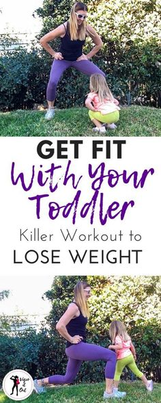 Exercise with Toddler Workout Routine for Mommy Fitness Really fun workouts to exercise with toddler. This 8 move cardio exercise routine has tons of tips and ideas for how to workout with children. Killer Workouts, Fun Workouts, At Home Workouts, Workouts With Kids, Fitness Workouts, Fitness Tips, Fitness Journal, Fitness Plan, Fitness Logo