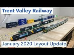 Model railway layout update for January 2020 including plans for the scenery section, introduction of DCC Sound and some other bits and bobs since the last l. Model Trains, January, Layout, Youtube, Page Layout, Model Train, Youtubers, Youtube Movies