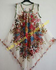 Yemeniden (yazma)diktigim deniz elbisesi