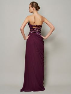 84c32f0f2 A-Line/Princess Strapless Sleeveless Beading Long Chiffon Dresses - Formal  Dresses - Hebeos
