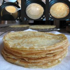 Julia Childs crepe recipe.  Really amazing and easy! *i just made these this morning. It was my first time making crepes. I was so nervous but felt like Julia was right by my side talking me through the process!*