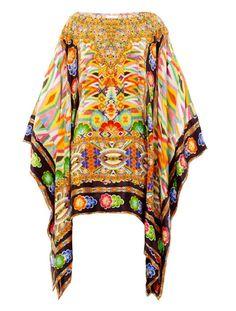 Camilla  Franks  Jakima Print Embellished Kaftan @Lyst
