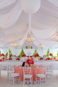 Tented wedding reception via Wedluxe